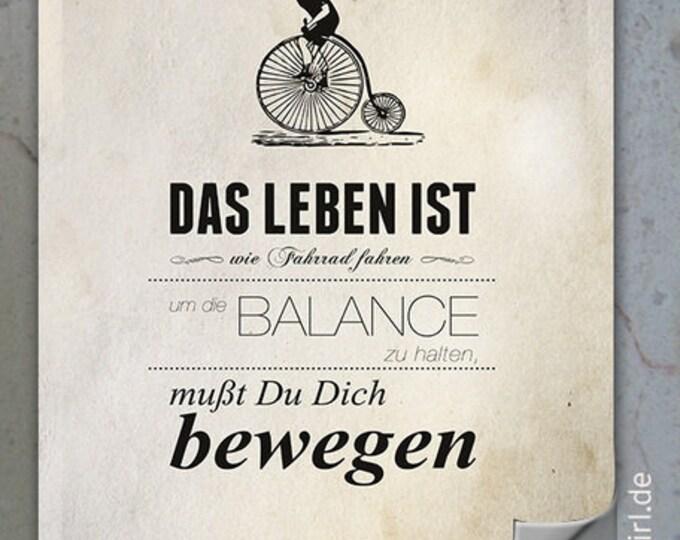 Vintage Poster Keep Running (Radfahrer) Weihnachtsgeschenk für antriebslose Denker, Neubeginner, Wechselbälger, Herzensmenschen, Freundin