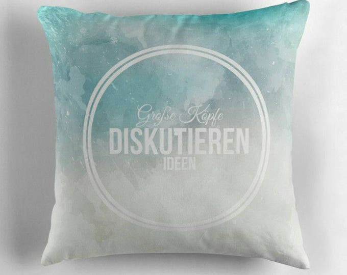 Big minds discuss ideas © hatgirl.de (happiness, philosophy, for strong children) living room cushions with upholstery