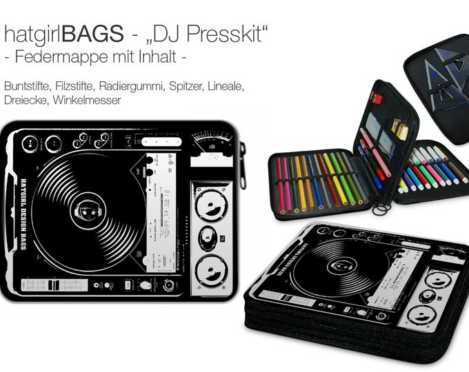 "Spring folder ""DJ Presskit"" filled (suitable from 1st class)"