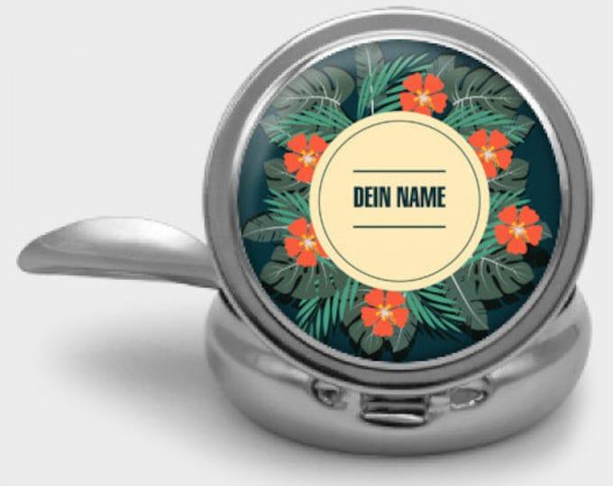 Pocket Ash Mug for More Environmental Awareness - Motif: Vintage Hawaii Summer - With Your Name