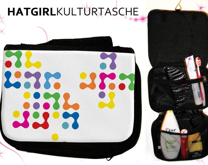 Colourful White- versch. Variations of the colorful colorful rainbow culture bag as a practical gift for Mother's Day