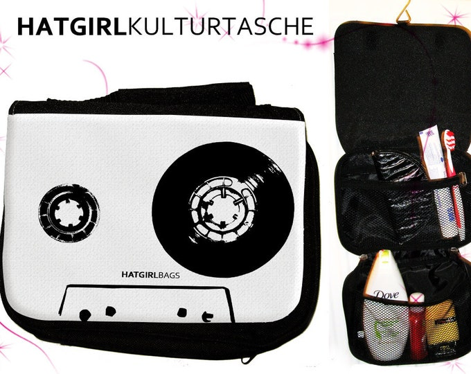 Coloured Tapedeck White- versch. Varianten der bunten farbenfrohen Regenbogen Kulturtasche als praktisches  zum  Weihnachtsgeschenk