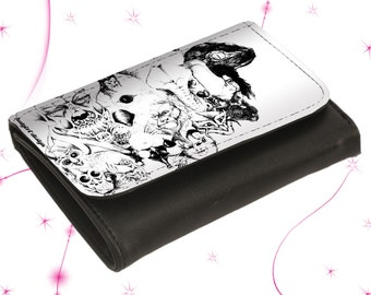 """Leather wallet purse """"Symbiosis"""""""