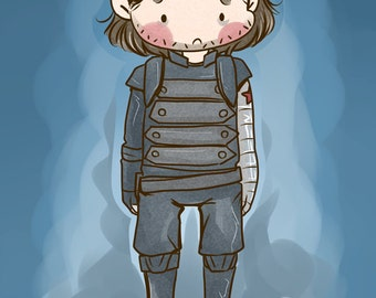 Bucky Barnes 4x6 inch fanart print - Captain America The Winter Soldier