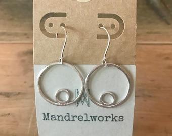 Circles Earrings, sterling silver, handmade earrings