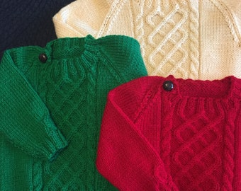 3df7edfb8d53 Red baby sweater