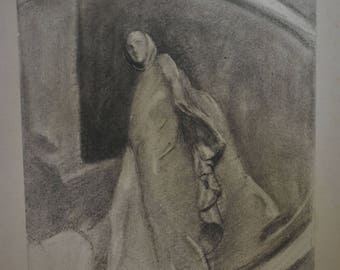 Drawing of a Statue, Woman in a Robe
