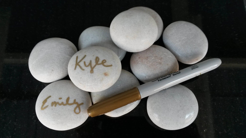 DIY Writing Stones/Favors 50 pcs Wedding Stones Wedding   Etsy