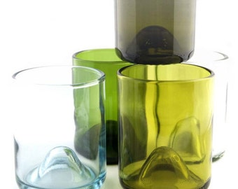 Wine Bottle drinking glasses - Wine Punts