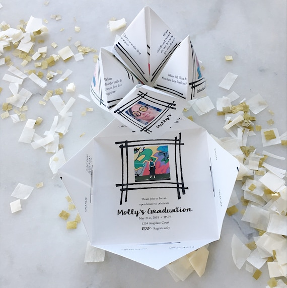 Printable Flexible Photo Cootie Catcher Fortune Teller Etsy