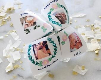 Printable FLEXIBLE Photo Cootie Catcher/Fortune Teller - Flexible Template -Birthday - Wedding - Baby Birthday - Party Invitation