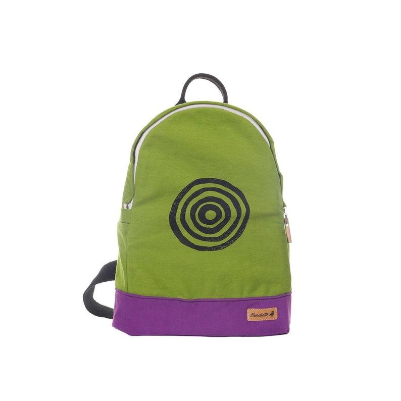 d965ed8ab4 Canvas Backpack Vegan Travel Backpack School Backpack