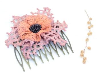 Flower hair comb - Wedding hair accessory