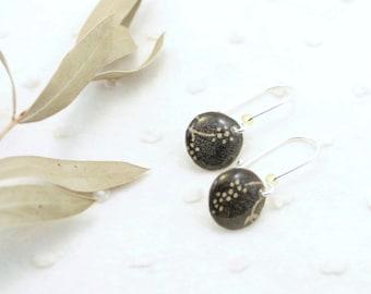 Fancy earrings and resin - Sterling silver