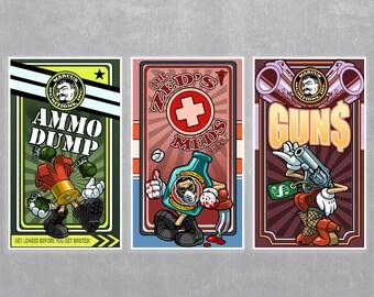 Borderlands 2 Vending Machine Posters - Set of 3