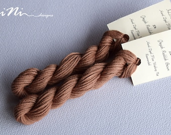 Hand dyed cotton thread / floss (6 strands) greyish reddish brown (104) for cross stitch / embroidery