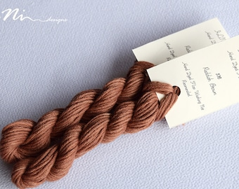 Hand dyed cotton thread / floss (6 strands) reddish brown (106) for cross stitch / embroidery