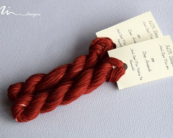 Hand dyed cotton thread / floss (6 strands) deep amaranth (099) for cross stitch / embroidery