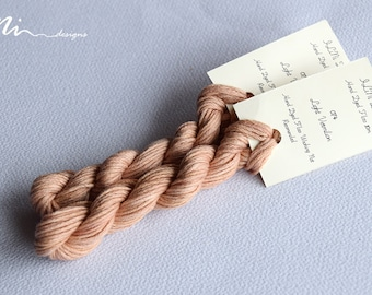 Hand dyed cotton thread / floss (6 strands) light vermilion (074) for cross stitch / embroidery