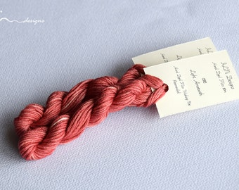 Hand dyed cotton thread / floss (6 strands) light amaranth (092) for cross stitch / embroidery