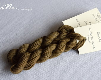Hand dyed cotton thread / floss (6 strands) deep olive (206) for cross stitch / embroidery