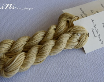 Hand dyed cotton thread / floss (6 strands) pale dijon colour (002) for cross stitch / embroidery