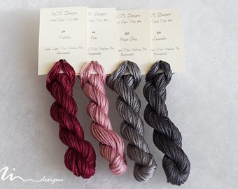 Hand dyed cotton thread / floss (6 strands) 4 colours exclusive collection for cross stitch / embroidery