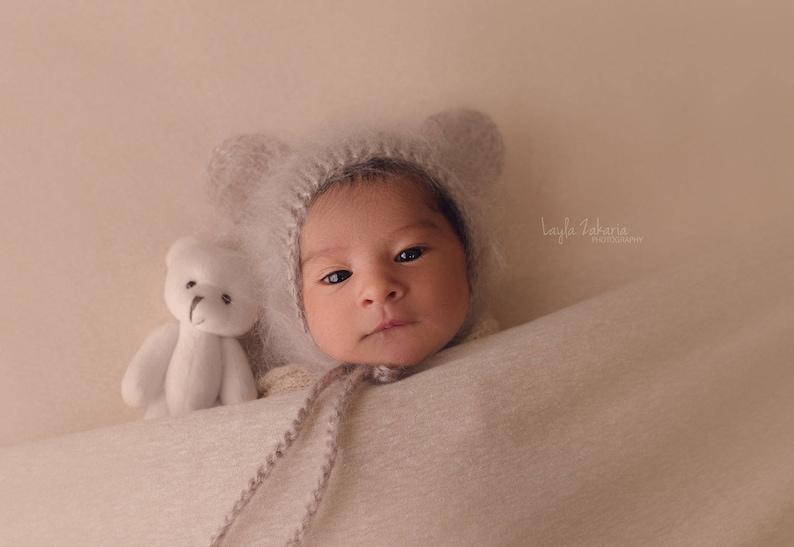 bf8db266381 Newborn bear hat 20 colours   newborn bear photo props