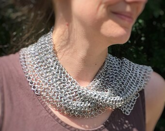 Chainmaille Scarf - Mesh Scarf - Fashion Scarf - Women's Scarf - Lightweight Scarf - Unique Scarf - Aluminum Scarf