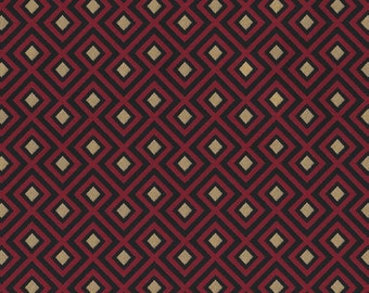 Tapestry fabric red with gold