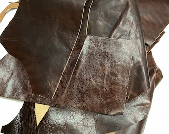 Genuine leather leftovers 300gr different sizes for crafting/patching