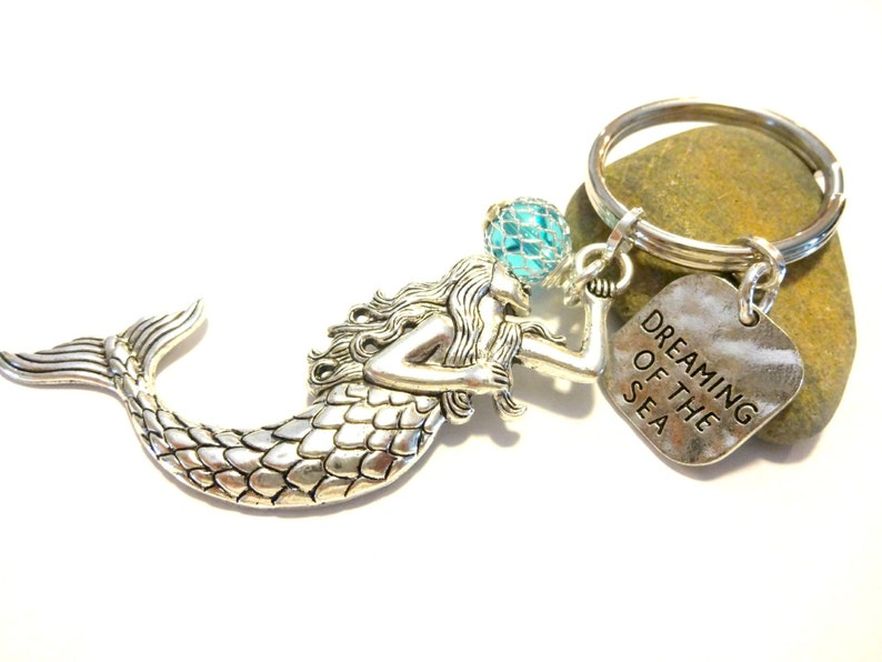 Mermaid Gifts Mermaid Gift Ocean Keychain Beach Accessories Beach Keychain Summer Keychain Mermaid Accessory Mermaid Keychain