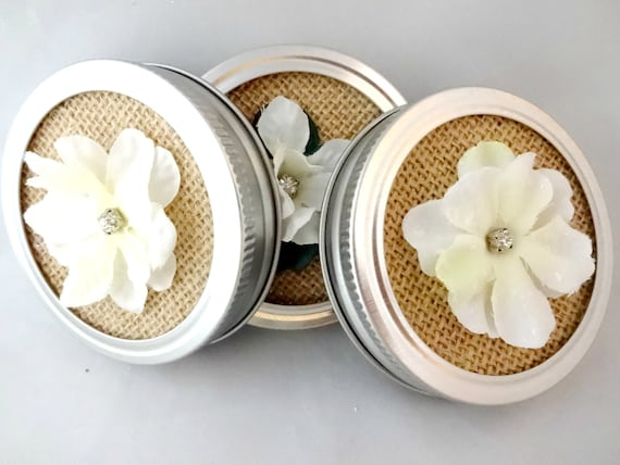 decorative mason jar lids burlap mason jar lid insert small etsy