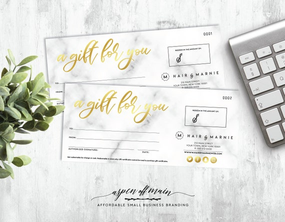 logo personalized gift certificates personalized gift etsy