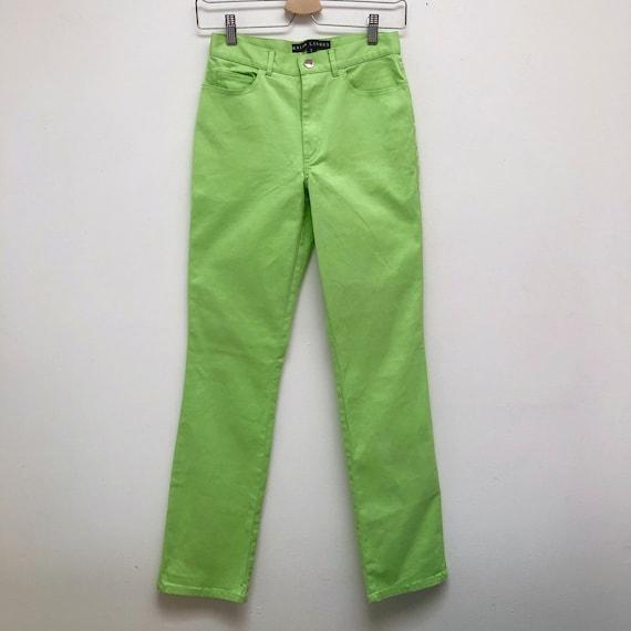 Ralph Lauren Vintage Lime Green High Rise Pants