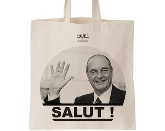 Jacques Chirac tote bag