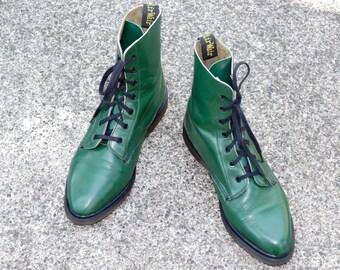 Green doc martens | Etsy