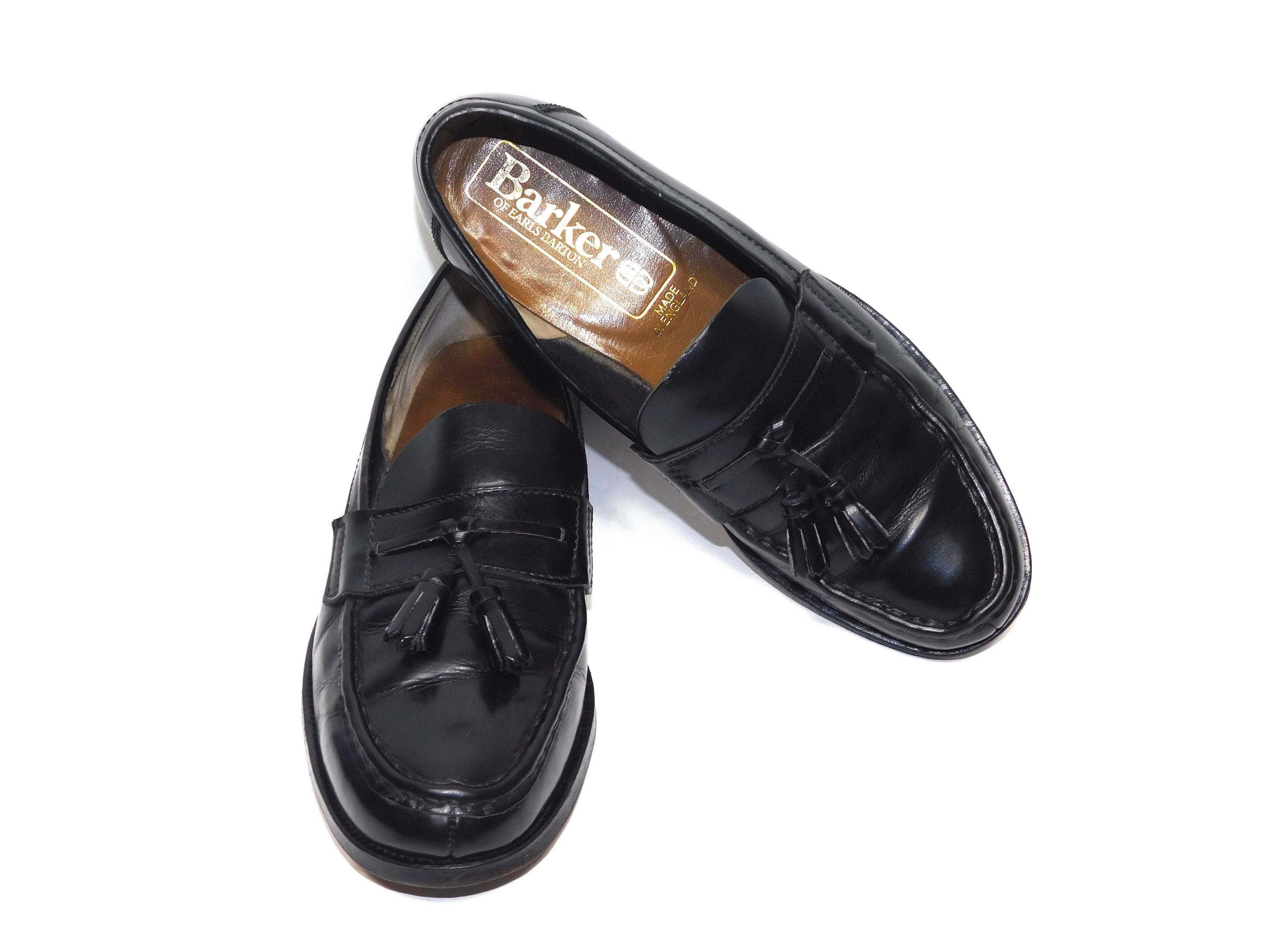e0b468334d17d Uk6~Rare Barker of Earls Barton Black Leather Penny Tassel Loafers-Made in  England ~UK6 ~ 8 to 8.5 US womens --