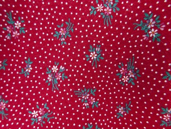 Vintage Gunne Sax Dark Red Calico Floral Velvet G… - image 6