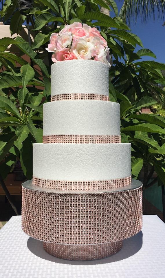 "16 /"" SQUARE MIRROR ACRYLIC CAKE BOARD STAND WEDDING"