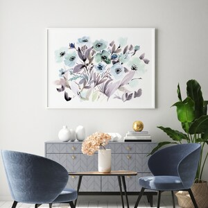 Unframed Prints on Archival Watercolor Paper. Quality Giclee Prints of Impatiences in Mason Jar