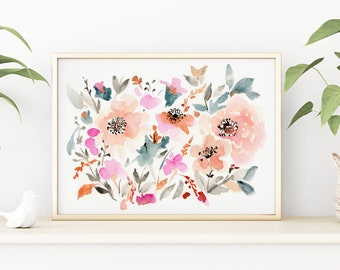 Giclée Watercolor print, Archival Art Print, Frame NOT included, Abstract Water-colour Melodi Artwork, High Quality Watercolour Wall Art