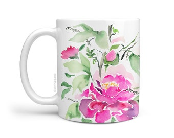 Watercolor Ophelia Mug, Beautiful Coffee Mug, 11oz and 15oz available, Unique Tea Mug, Ceramic Coffee Mug Tea Mug perfect gift item