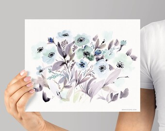 Art Print, Giclée Watercolor print, Archival Art Print, Frame NOT included, Senay Studio Abstract Silvia Print, Watercolour Wall Art