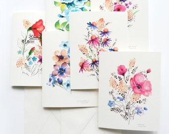 Blank cards etsy watercolour florals 5x7 folded blank cards senay studio original watercolour designs beautiful greeting cards for any occasion m4hsunfo