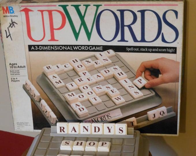 Upwords Game. Milton Bradley. A 3-Dimension Word Game (1988)