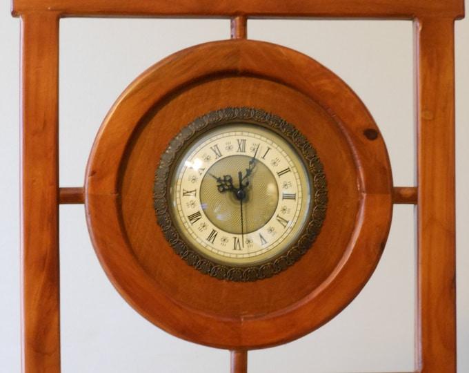Framed Quartz Movement Mantle or Shelf Clock