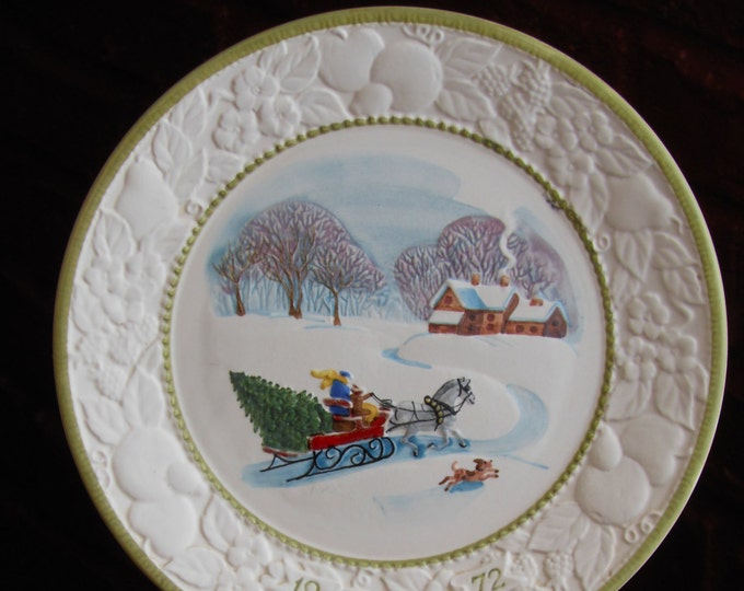 "Songs of Christmas ""Jingle Bells"" Vernon Ware Collector's Plate (1972)"
