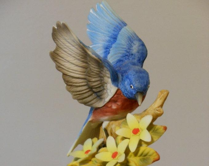 Porcelain Bisque Vintage Shafford Blue Bird