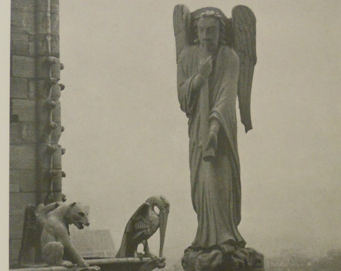 Angel Atop Notre Dame. Photoengraving by Andre Kertesz